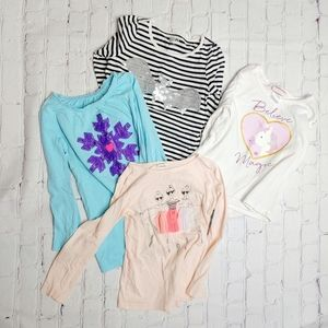 Assorted Girls Long Sleeved Shirts 5T